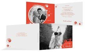 Dankeskarten für die Gäste Ihrer Hochzeit selbst gestalten. Sagen Sie mit individuellen Dankeskarten zur Hochzeit auf die schönste Weise Danke.