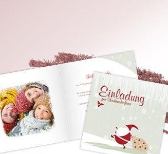 Einladungskarten Weihnachten