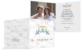 Dankeskarte Im Zeichen der Liebe - Frauen - Weiß (K24)