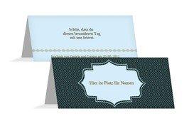 Tischkarte Harmonie - Dunkelblau (K32)