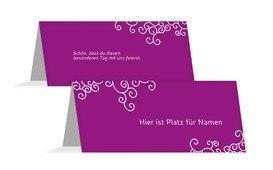 Tischkarte Band der Liebe - Pink (K32)