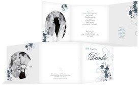 Hochzeit Dankeskarte Ranke - Türkis (K23)