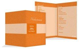 Hochzeitsmenü Hochzeitsglück - Orange (K38)