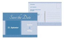 Save the Date Hochzeitsglück - Blau (K25)