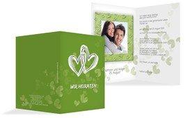 Einladungskarte Liebesglück - Grün (K20)