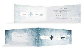Einladungskarte Du+Ich=Liebe - Türkis (K33)