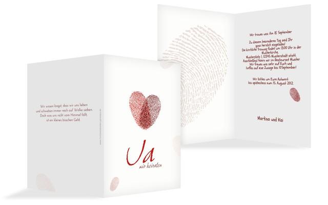 Einladung Zur Hochzeit Fingerprint