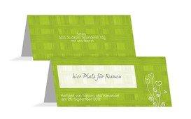 Tischkarte Liebestraum - Grün (K32)