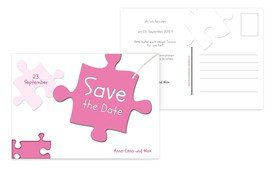 Save the Date Puzzleteile - Pink (K25)