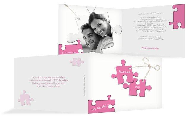 Einladungskarte Puzzleteile