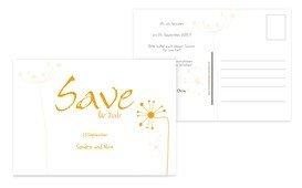 Save the Date abstrakte Blumen - Gelb (K25)