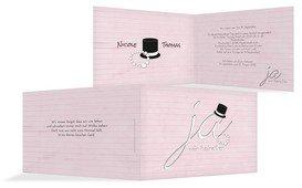 Einladungskarte Kette Zylinder - Rosa (K19)