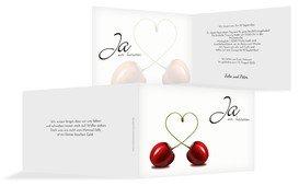 Einladung zur Hochzeit Kirsche - Schwarz (K19)