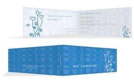Hochzeitseinladung Liebestraum 2 - Blau (K33)