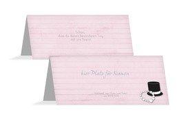 Tischkarte Kette Zylinder - Rosa (K32)
