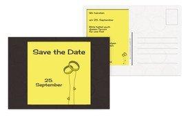 Save the Date Eleganz - Gelb (K25)
