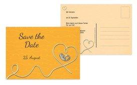 Save the Date Karte erfüllte Liebe - Gelb (K25)