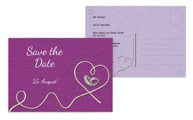 Save the Date Karte erfüllte Liebe - Pink (K25)