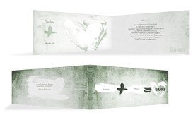 Dankeskarte Du+Ich=Liebe 2 - Grün (K33)