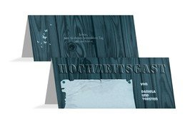 Tischkarte Steckbrief - Blau (K32)
