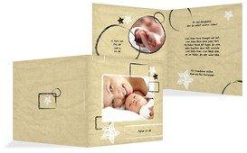 Babykarte Kreidepapier - Braun (K24)