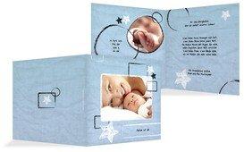 Babykarte Kreidepapier - Hellblau (K24)