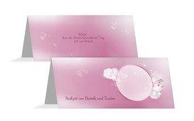 Tischkarte Liebeszauber - Pink (K32)