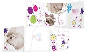 Baby Dankeskarte Zauberblumen - Pink (K23)