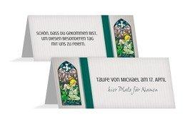 Tischkarte Kirchenfenster - Grün (K32)