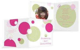 Einladungskarte Geburtstag Prinzessin Foto - Pink (K24)