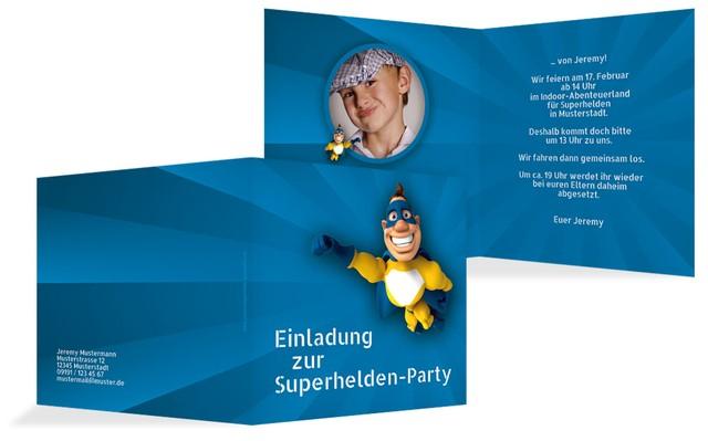 Einladung Zum Geburtstag Superheld Foto
