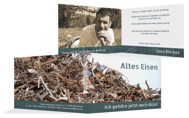 Geburtstagseinladung Altes Eisen Foto