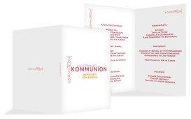 Menükarte Kommunion Script - Rot (K38)