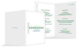 Menükarte Kommunion Script - Grün (K38)