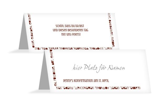 Tischkarte Konfirmation Spruchkreis