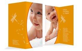 Geburtskarte Libelle - Gelb (K35)
