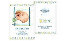 Dankeskarte Geburt Smart - Grün (K31)