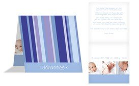 Babykarte 3Bilder - Rot (K24)