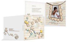 Geburtskarte Babyelements - Braun (K24)