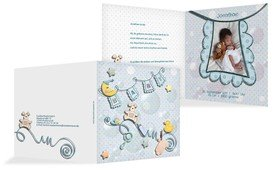 Geburtskarte Babyelements - Türkis (K24)