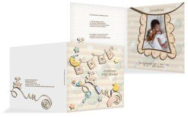 Geburt Dankeskarte Babyelements - Braun (K24)