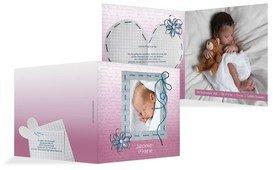 Geburtskarte Schnipp-Schnapp - Pink (K24)