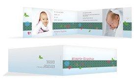 Babykarte colorful garden - Türkis (K33)