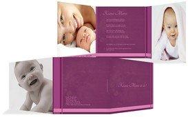 Geburtskarte klangvolle Streifen - Pink (K23)