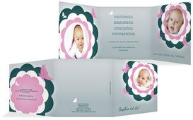 Babykarte Blütenzauber - Pink (K23)