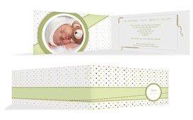 Baby Dankeskarte Pünktchen - Grün (K33)