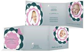Baby Dankeskarte Blütenzauber - Pink (K23)