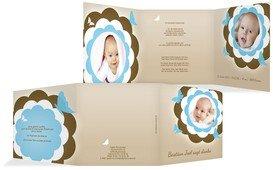 Baby Dankeskarte Blütenzauber - Blau (K23)