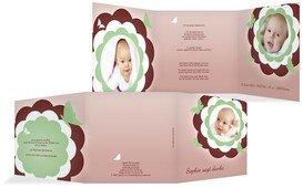 Baby Dankeskarte Blütenzauber - Grün (K23)