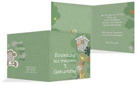 Einladungskarte Geburtstag Dschungel Foto - Grün (K24)